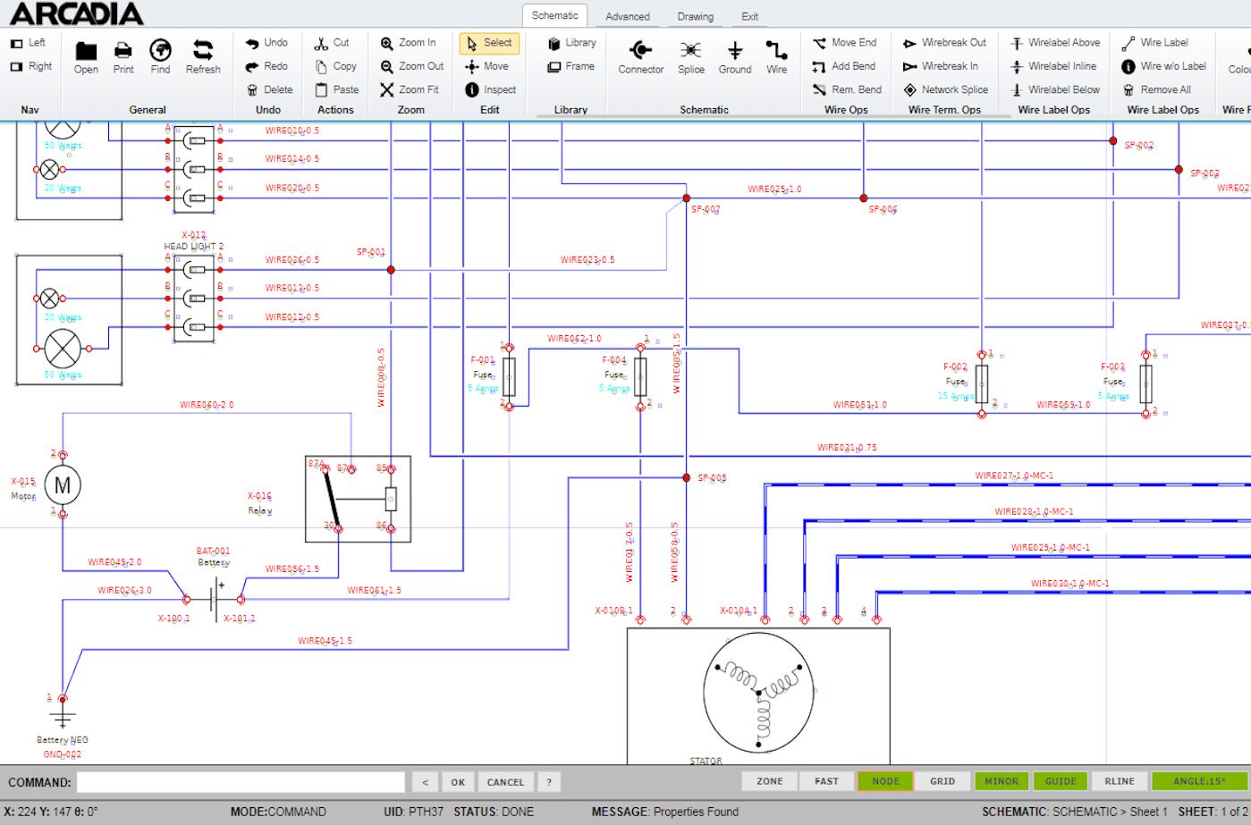 Arcadia Schematic - Electrical Design Software - Cadonix   Advanced Wiring Schematics      Cadonix