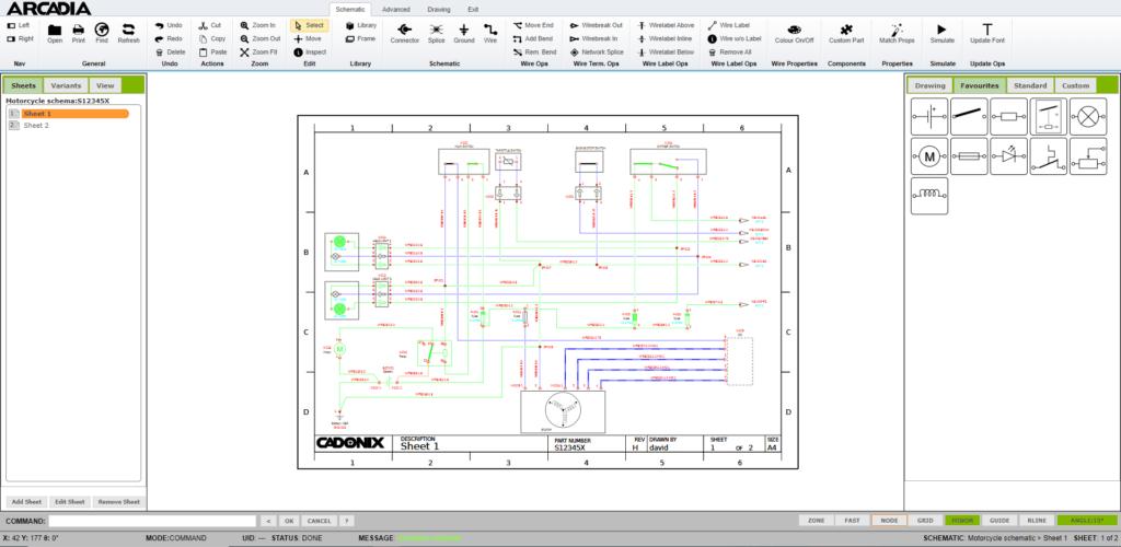 simulation de logiciel de conception schématique électrique