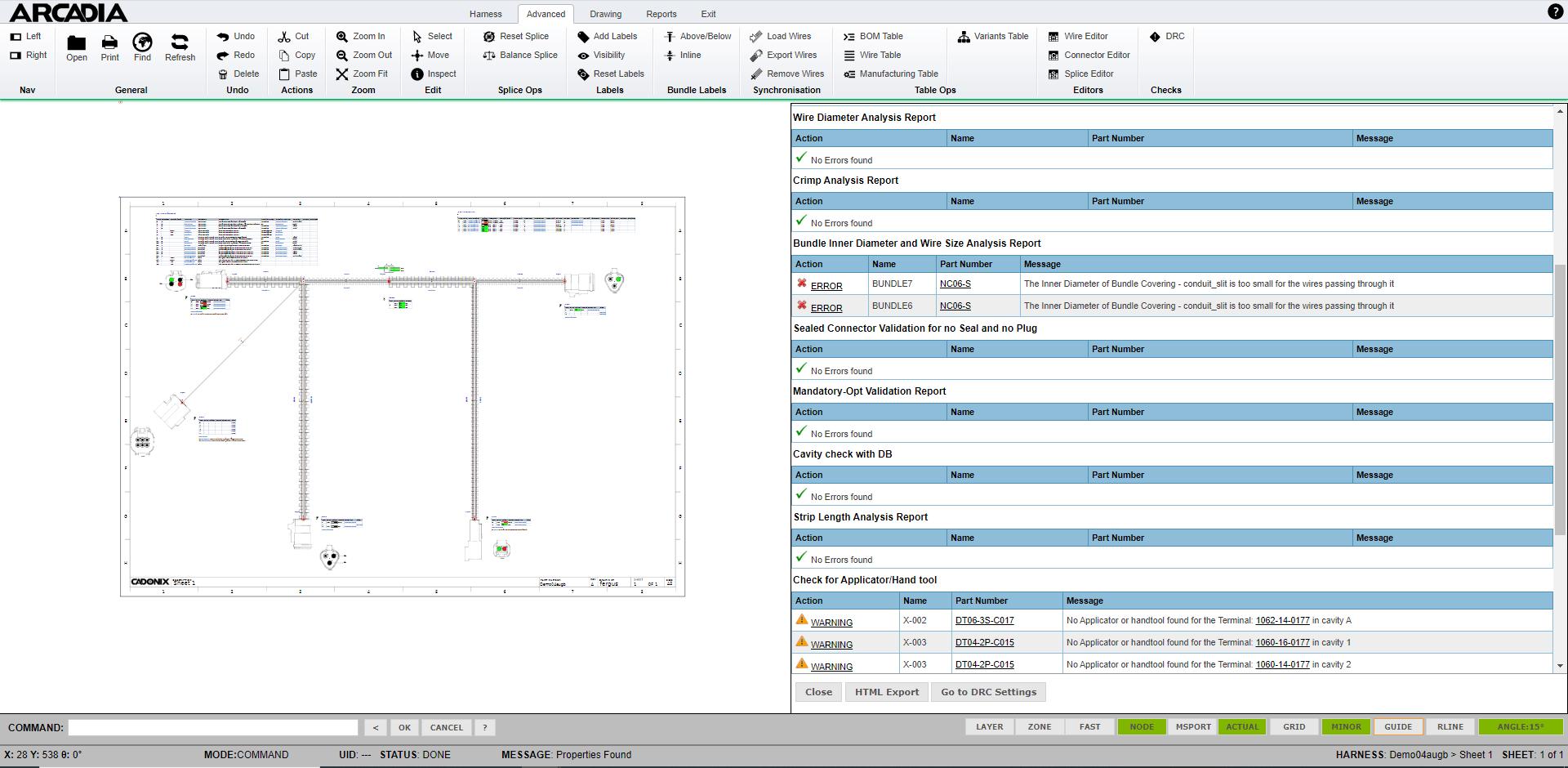 software de diseño de arnés de alambre drc