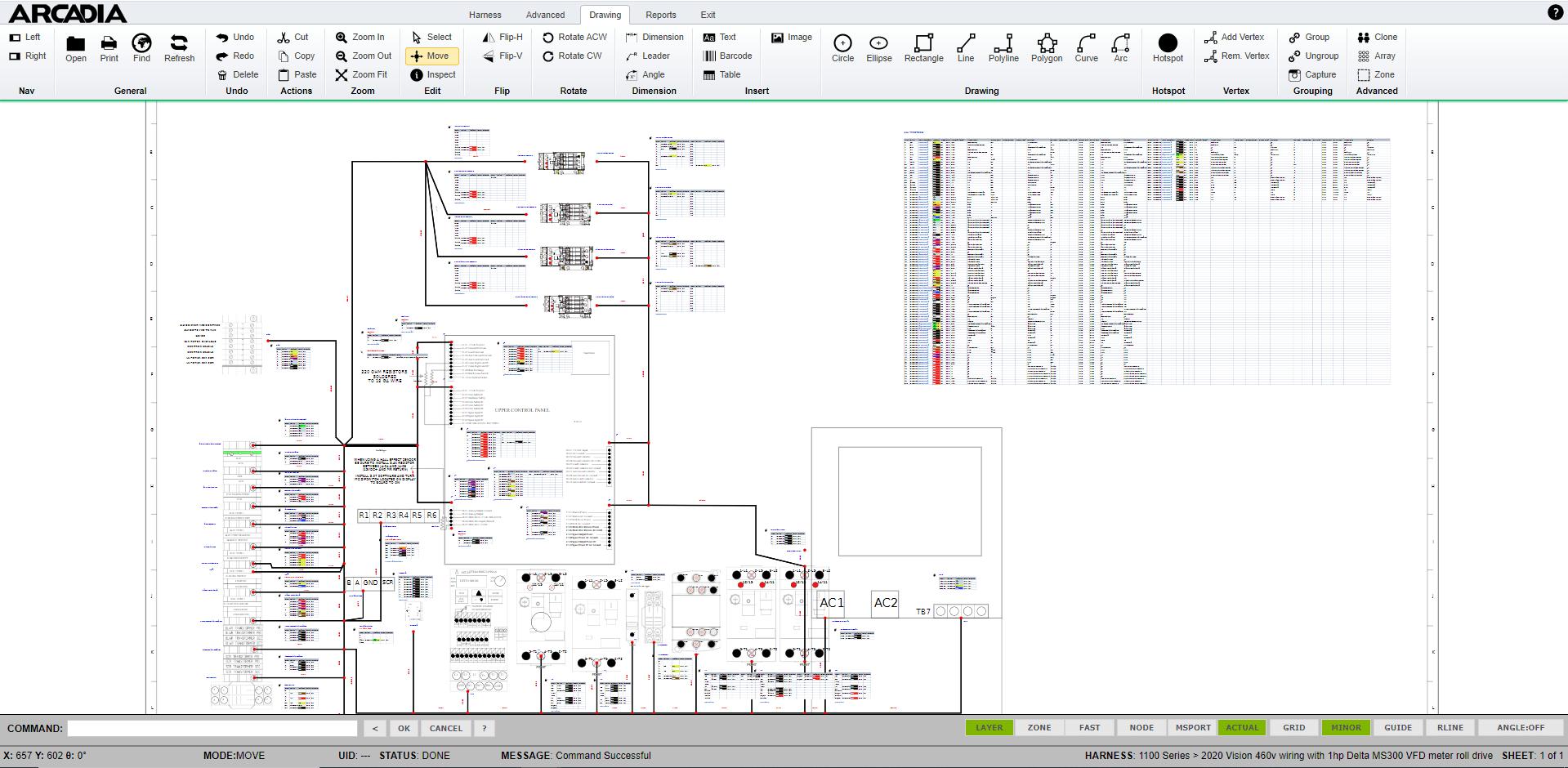 arnés de software de diseño de arnés de alambre de esquema
