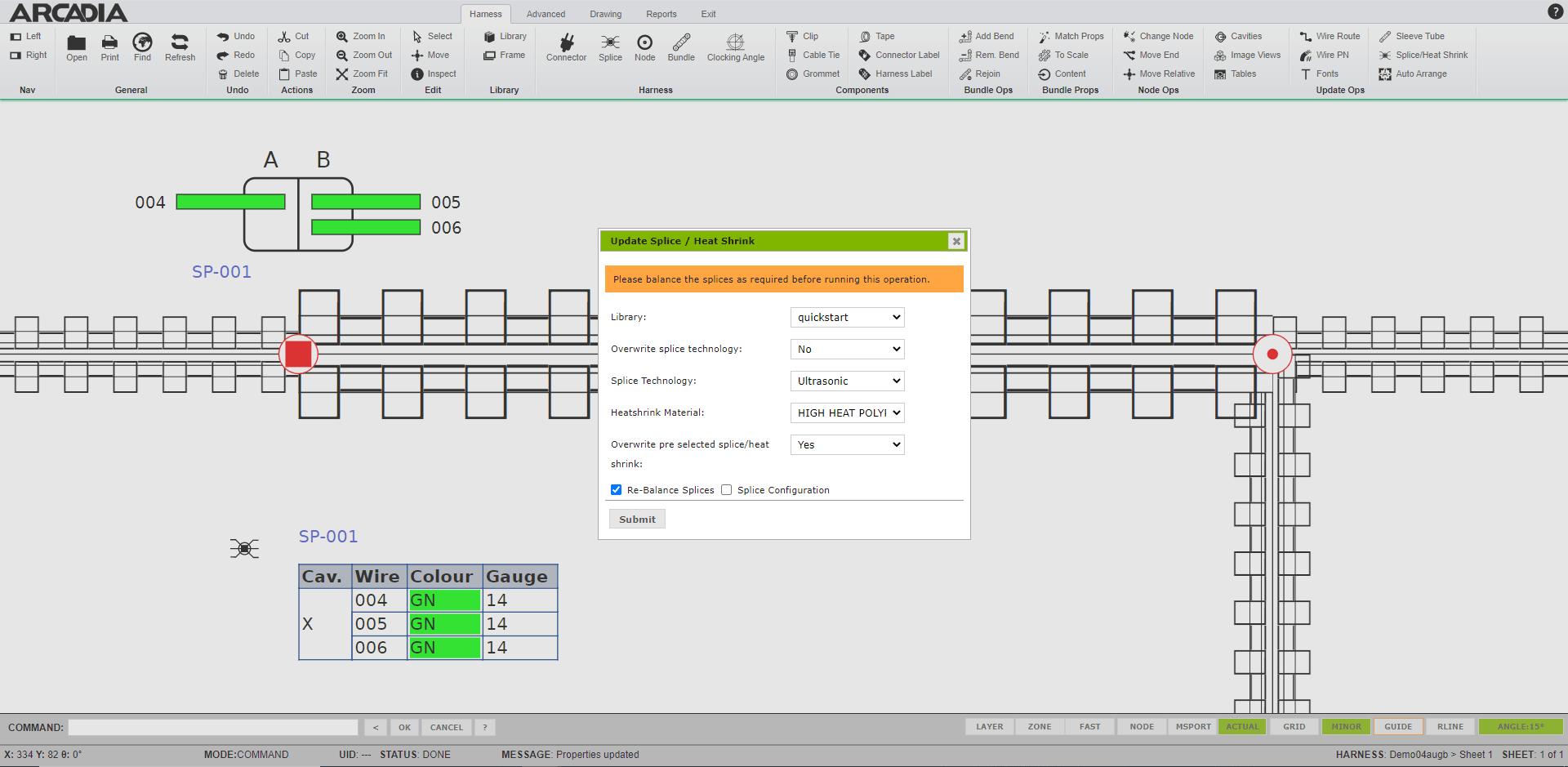empalme de alambre de diseño de empalmes de software empalme
